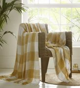 Portfolio Epsom Cotton Throw - Ochre (228x250cm)