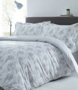 Portfolio Hestia Duvet Cover Set Silver - Superking