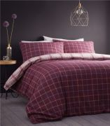 Portfolio Iona Plum Brushed Cotton Duvet Cover Set - King