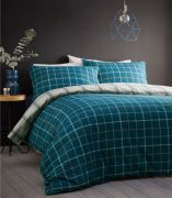 Portfolio Iona Teal Brushed Cotton Duvet Cover Set - Superking
