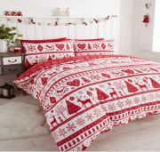 Portfolio Noel Red Duvet Cover Set - Superking