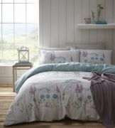 Portfolio Pasture Aqua Duvet Cover Set - Superking