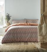 Portfolio Riley Duvet Cover Set Terracotta - Double