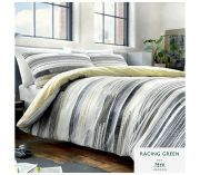 Racing Green Amaru Duvet Cover Set - Double