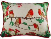 Robins Velvet Chenille Piped Cushion