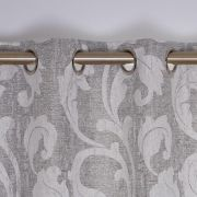 Rochelle Eyelet Curtains Silver 90