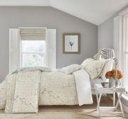 Sanderson Anthea Grey/Linen Duvet Cover Set - Double