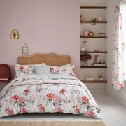 Sanderson Rhodera Coral Duvet Cover Set - Superking