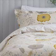 Sanderson Wind Poppies Linen/Ochre Duvet Cover Set - Superking 2
