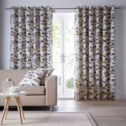 Studio G Chelsea Ochre Readymade Curtains - 90