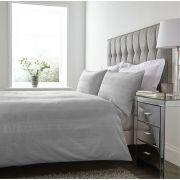 The Linen Consultancy Mayfair Silver Duvet Cover Set - Double
