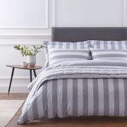 The Linen Consultancy Soho Silver Duvet Cover Set - Double