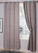 Valletta Interlined Eyelet Readymade Curtains Silver - 132