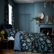 V&A Everlasting Bloom Indigo Duvet Cover Set - Double