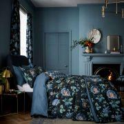 V&A Everlasting Bloom Indigo Duvet Cover Set - Double
