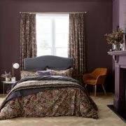 V&A Hawards Garden Aubergine Duvet Cover Set - Double