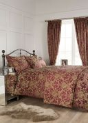 Vantona Como Jacquard Duvet Cover Set Berry - King