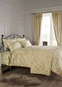 Vantona Como Jacquard Throw Gold