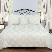 Vantona Firenze Jacquard Taupe Duvet Cover Set - Superking