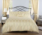Vantona Verona Jacquard Gold Duvet Cover Set - Double