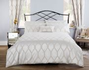 Vantona Verona Jacquard Pearl Duvet Cover Set - Single