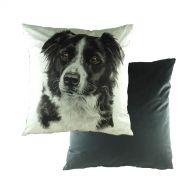 WaggyDogz Velvet Border Collie Cushion