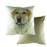 WaggyDogz Velvet Yellow Labrador Cushion